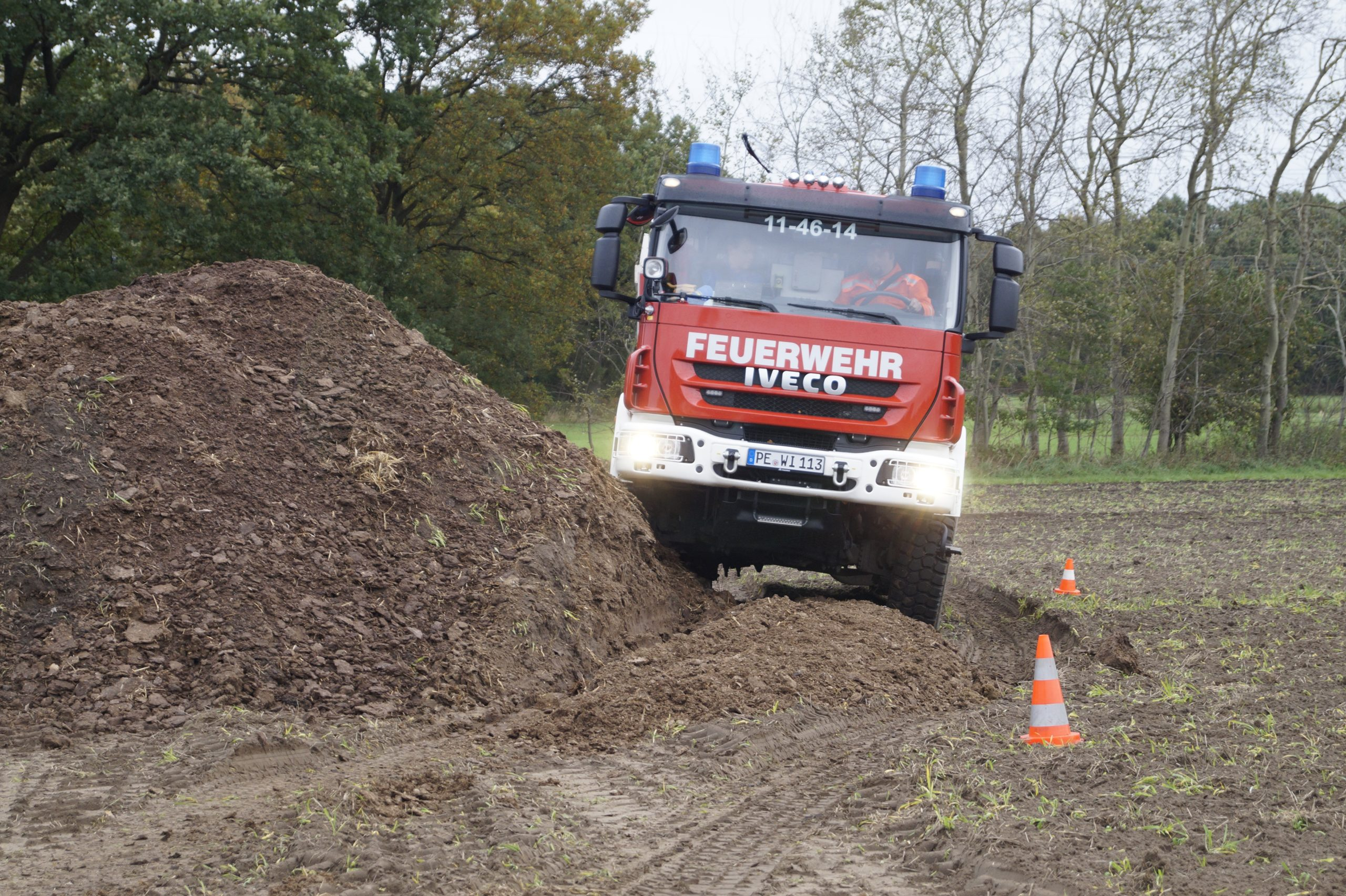 Feuerwehr-Gelände-Basis-Training